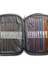 Home Use Travel 22Pcs Аксессуары для швейных принадлежностей Крестообразная игла для иглы Многофункциональная портативная коробка для хранения Многоцветная серебристая вязальная крючок Инструменты Крючки Вязание крючком Сумка для органайзера