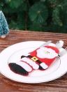 4pcs / set Santa Claus Christmas Cutlery Holders Fork Knife Spoon Sacs Pocekts Set Christmas Decor Ornaments