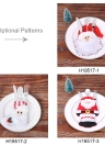 4pcs/set Santa Claus Christmas Cutlery Holders Fork Knife Spoon Bags Pocekts Set Christmas Decor Ornaments