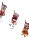 Christmas Hanging Stockings Gift Candy Bag Christmas Decoartions Ornaments--Santa