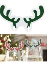 Christmas Wine-cup Card Antlers Snowman Hat Flag Festival Glass Cup Decoration New Year Cake Sign 10PCS