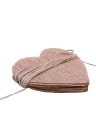 15pcs DIY Burlap Banner for Valentine's Day Wedding and Party Ornaments Heart Shape Decorarion Flax Cloth