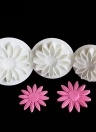 3PCS Sunflower Fondant Mold Spring Die Plastic Sugar Cakes Baked Biscuit Cookies Decorating Modeling Tools Kitchen Gadgets