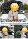 Freihändige Doppelschicht-umgekehrter wetterfester Auto-Werbungs-Regenschirm-wasserdichte umgekehrte Regenschirme