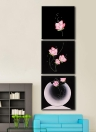 3pcs Unframed Hand Painted Oil Painting Set Beautiful Flowers Modern Picture Canvas Paint Wall Decor Art for Living Room Decoration