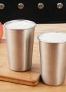 5 PCS Aço inoxidável Pint Cups Tumbler caneca de cerveja Viagens e refrigerador canecas Partido Camping Picnic Juice Cup Resistência Gota