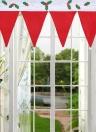 Cute Christmas Window Drape Panel Decorative Xmas Door Window Curtains Pennant Bunting Valance Christmas Decoration Supplies