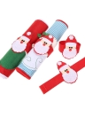 4PCS Christmas Napkin Ring Holders Cute Santa Claus Xmas Servitte Holder for Dinner Party Table Decoration