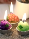 Anself 6pcs Grapes Pattern Candles Artificial Botryoidal Candles for Birthday Wedding Party Home Decoration Supplies