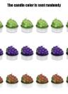 Anself 6pcs Uva modello Candele artificiale Botryoidal Candele a accessori per la festa nuziale di compleanno decorazione domestica