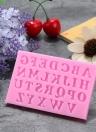 3D Письма Силиконовый торт Плесень Candy Jelly Fondant Изготовление пресс-форм Отделка DIY Mold Mold Алфавит