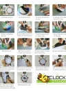 15.7 * 15.7'' DIY Removable 3D Wall Clock Sticker Quartz Movement Wall Decortive Stickers Living Room Bedroom Decal Decor