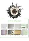 15,7 * 15,7 '' Bricolage amovible en 3D Montre murale Autocollant Quartz Mouvement Mur Décoratif Stickers Salon Décalage décoratif