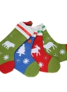 4pcs/set Christmas Hanging Stockings X'mas Gift Candy Bags Christmas Tree Decoration Ornaments--Assorted Patterns