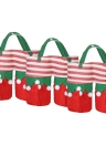 3pcs/set Christmas Wine Bottle Bags Beverage Drink Holders Candy Gift Bags Set with Handles Christmas Decorations Ornaments