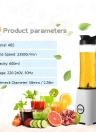 600ml Multi-function Food Blender Food Processor Juicer Personal Size Blender Handy Portable Chargeable Electric Juice Cup Multifunctional Juice Glass Mini Juice Maker