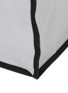 3-section grand pliable sac à linge de panier d'Oxford sale vêtements organisateur de sac de rangement avec poignées en aluminium