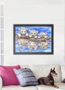 13 * 17 inches/34 * 44cm DIY 5D Diamond Painting Kit Baby Tigers Pattern Resin Rhinestone Mosaic Embroidery Cross Stitch Craft Home Wall Decor