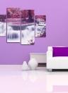 HD stampato 4-Panel senza cornice Acero e cascata modello Tela Pittura di arte della parete Immagini modulari Decor per la casa Soggiorno Ufficio camera da letto