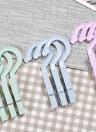 4 Pcs En Plastique Vêtements Crochets Peg Voyage Portable Suspendus Vêtements Rails Clips Accueil Pinces à linge Chaussettes Sous-Vêtements De Séchage Rack