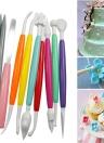 10 pezzi Muticolor DIY Cake Modeling Set Fondant e Gum Paste Kit di strumenti per la decorazione