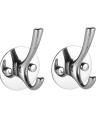 2 pezzi / set ganci a parete SS ganci in acciaio inox di alta qualità multifunzionale ganci salvaspazio gancio singolo set