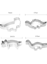 4pcs Dinosaur Stainless Steel Cookie Cutters Fondant Cutter Biscuit Cutters Sandwich Cutters Cookie Cutter Set