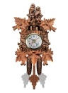 Coucou Horloge Murale Oiseau Bois Décorations Suspendues pour Home Cafe Restaurant Art Vintage Chic Swing Salon Style 4
