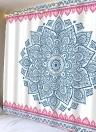 Parede de suspensão decorativa abstrata geométrica e tela de fundo cobertor Praia de múltiplos fins decorativa geométrica colorida e toalha de ioga