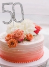 Romantic Wedding Cake Topper Bling-bling Rhinestone Party Wedding Decoration