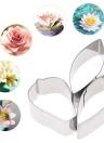 3pcs en acier inoxydable de cuisson de décoration de gâteau Fondant Outils 3D Belle Coller Pétale / Gum Mold pétales de fleurs en forme de larme Cookie Cutter