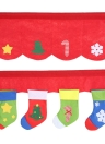Festnight 2pcs/Set Door Window Curtains Christmas Stockings Decoration Decor Pennant Bunting Valance Christmas Decoration Supplies
