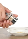 2pcs Acrylic & Stainless Steel Mini Manual Pepper Grinder Set Muller Mill Kitchen Seasoning Grinding Tool