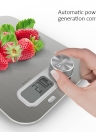 Homgeek Battery Free Kitchen Scale with Large LCD Display Scales Wind-up Mini Scale Accurate Digital Kitchen Scales