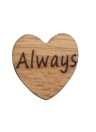 50Pcs Natural Rustic Wooden Mini Hollow Love Hearts Embellishments for Craft Decoration Slices Discs Ornaments Engraved Letters Jewelry DIY I Do Always LOVE Props