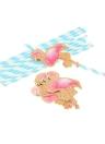50 unids / set color de dibujos animados de papel desechables pajas de beber para el cumpleaños de la boda piscina fiesta decoraciones suministros - fresa