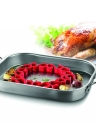 Silicone Roasting Rack Flexible Heat Resistant Roast Mat Ring Meat Oven Safe Poultry Vegetable Healthy Cooking Tool