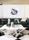 60 * 45 cm HD Imprimé Sans Cadre Coloré Fille Visage Motif Toile Peinture Mur Art Photos Décor pour Maison Salon Chambre Bureau