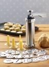25pcs macchina della pressa della lega di alluminio che fa la pompa del biscotto multi modello biscotti biscotti creatore biscotti muffa estrusore cucina decorazione di una torta 20 stampi + 4 ugelli