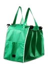 Reusable Large Trolley Clip-To-Cart Grocery Shopping Portable Green Cloth Bags