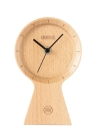 Meki Handmade Beech Wood Eco-friendly Material Sunny Clock Silent Non Ticking Wooden Clock for Office Home Bedroom Living Room