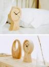 Meki Handmade Beech Wood Eco-friendly Material Sunny Clock Silent Non Ticking Wooden Clock for Office Home Bedroom Living Room