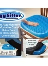 Gel Sitter Seat Cushion Flex Breathable Office Pain Relieve Cushion Egg Sitter Удобная сотовая опорная подушка
