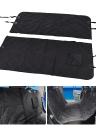 Detachable Pet Car Hammock Waterproof Rear Seat Cover Protector Dog Cat Travel Mat  for Cars Trucks Cargos SUV