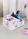 Office Desk Multi-Purpose DIY Storage Box Water-resistent Pen Pencil Holder Cosmetics Makeup Organizer Container Case