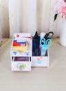 Bureau Bureau multi-usage Bricolage Boîte de rangement résistant à l'eau Stylo porte-crayons cosmétiques organe de maquillage porte container