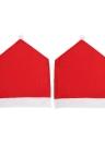 Le coperture posteriori della sedia di stile del cappello di natale 2pcs / set coprono le decorazioni degli ornamenti delle decorazioni di Slipcovers della cena di Natale