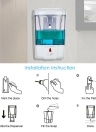 700ml Automatic Soap Dispenser Wall-Mounted IR Sensor Liquid Hand Cleanser Lotion Dispenser Container for Kitchen Bathroom
