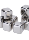 8Pcs Reusable Stainless Steel Cooler Set Wine Drinks Cooling Chilling Cube with Plastic Storage Case Tongs