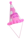 Anself Party Celebration Bobbles Cute Hat Birthday Hat Festive Decorations for Kids Pink